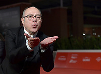 """Italian director and actor Carlo Verdone poses on the red carpet for the movie """"Vita da Carlo"""" at the 16th edition of the Rome Film Fest in Rome, on October 22, 2021.<br /> UPDATE IMAGES PRESS/Isabella Bonotto"""