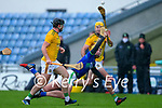 Micheál O'Leary, Kerry, in action against Shane Brennan, Meath during the Round 1 meeting of Kerry and Meath in the Joe McDonagh Cup at Austin Stack Park in Tralee on Sunday.