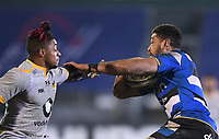 8th January 2021; Recreation Ground, Bath, Somerset, England; English Premiership Rugby, Bath versus Wasps; Taulupe Faletau of Bath evades Paolo Odogwu of Wasps