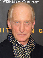 NEW YORK CITY, NY, USA - NOVEMBER 17: Charles Dance arrives at the New York Premiere Of The Weinstein Company's 'The Imitation Game' held at the Ziegfeld Theatre on November 17, 2014 in New York City, New York, United States. (Photo by Celebrity Monitor)