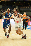 Real Madrid´s Sergio Llull and Anadolu Efes´s Donate Draper during 2014-15 Euroleague Basketball match between Real Madrid and Anadolu Efes at Palacio de los Deportes stadium in Madrid, Spain. December 18, 2014. (ALTERPHOTOS/Luis Fernandez)