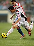 Mallorca's Kevin Garcia against Atletico de Madrid's Jose Antonio Reyes during La Liga match. January 17, 2011. (ALTERPHOTOS/Alvaro Hernandez).