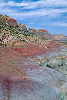 Bentonite Hills and Circle Cliffs<br />