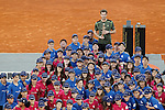 Andy Murray, Great Britain celebrates the victory in the Madrid Open Tennis 2015 with the balls-boys. May, 10, 2015.(ALTERPHOTOS/Acero)