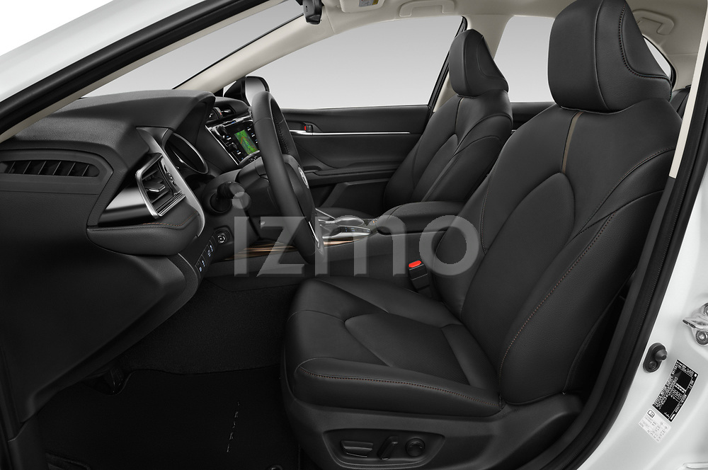 Front seat view of a 2019 Toyota Camry Premium 4 Door Sedan front seat car photos