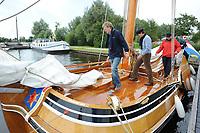 ALGEMEEN: SNEEK: Friese Statenjacht 'Friso' op de Snitser Mar, 2009, een boeier die in 1894 is gebouwd door Eeltje Holtrop van der Zee ('Eeltsjebaas') in Joure voor Baron van Harinxma thoe Slooten, ©foto Martin de Jong