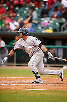 Jackson Generals third baseman Leury Bonilla (12) at bat during a game against the Montgomery Biscuits on April 29, 2015 at Riverwalk Stadium in Montgomery, Alabama.  Jackson defeated Montgomery 4-3.  (Mike Janes/Four Seam Images)