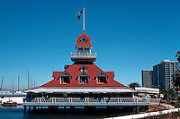 San Diego: Coronado Yacht Club Boathouse. Victorian style. Photo '78.