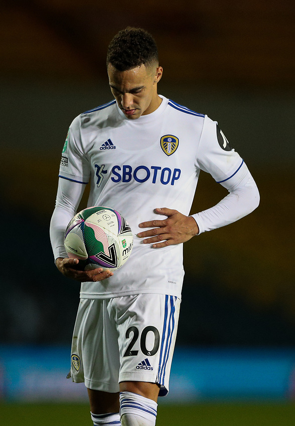 Leeds United's Rodrigo prepares to take a penalty<br /> <br /> Photographer Alex Dodd/CameraSport<br /> <br /> Carabao Cup Second Round Northern Section - Leeds United v Hull City -  Wednesday 16th September 2020 - Elland Road - Leeds<br />  <br /> World Copyright © 2020 CameraSport. All rights reserved. 43 Linden Ave. Countesthorpe. Leicester. England. LE8 5PG - Tel: +44 (0) 116 277 4147 - admin@camerasport.com - www.camerasport.com