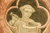 Italien, Umbrien, Museum Trinci in Foligno, Fresken im Kapellenraum gemalt 1424 von Ottaviano Nelli