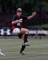 NC State forward/midfielder Jessica Baity (23) attempts to control the ball. Boston College defeated North Carolina State,1-0, on Newton Campus Field, on October 23, 2011.