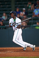 Daytona Tortugas right fielder Aristides Aquino (99) at bat during a game against the Fort Myers Miracle on April 17, 2016 at Jackie Robinson Ballpark in Daytona, Florida.  Fort Myers defeated Daytona 9-0.  (Mike Janes/Four Seam Images)