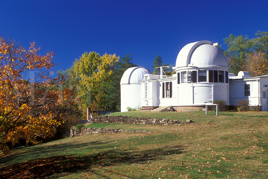 college, South Hadley, Massachusetts, MA, Williston Observatory on the campus of Mount Holyoke College in South Hadley in the autumn.