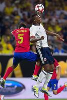 Action photo during the match Colombia vs Costa Rica, Corresponding to  Group -A- of the America Cup Centenary 2016 at NRG Stadium.<br /> <br /> Foto de accion durante el partido Colombia vs Costa Rica, Correspondiente al Grupo -A- de la Copa America Centenario 2016 en el Estadio NRG , en la foto: (i-d) Celso Borges de Costa Rica y Yerry Mina de Colombia<br /> <br /> <br /> 11/06/2016/MEXSPORT/Jorge Martinez.