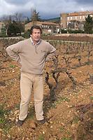 Michel Julien Chateau Villerambert-Julien near Caunes-Minervois. Minervois. Languedoc. Owner winemaker. France. Europe. Vineyard.