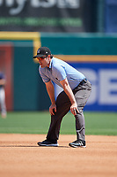 Umpire Scott Costello during a game between the Pawtucket Red Sox and the Buffalo Bisons on June 28, 2018 at Coca-Cola Field in Buffalo, New York.  Buffalo defeated Pawtucket 8-1.  (Mike Janes/Four Seam Images)