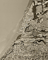 historical aerial photographof Anchorage and the Port of Anchorage, Alaska, 1972
