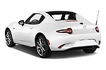 Car pictures of rear three quarter view of a 2019 Mazda MX-5 RF Club 2 Door Targa angular rear