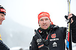 MARTELL-VAL MARTELLO, ITALY - FEBRUARY 02: German coach after the Women 7.5 km Sprint at the IBU Cup Biathlon 6 on February 02, 2013 in Martell-Val Martello, Italy. (Photo by Dirk Markgraf)
