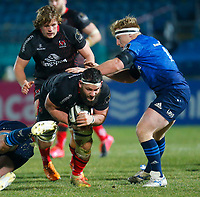 8th January 2021; RDS Arena, Dublin, Leinster, Ireland; Guinness Pro 14 Rugby, Leinster versus Ulster; Marcell Coetzee of Ulster tries to get past Caelan Doris of Leinster