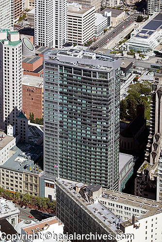 aerial photograph Four Seasons Hotel San Francisco