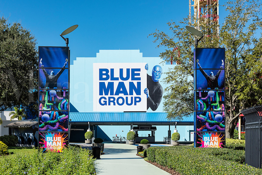The Blue Man Group theatre at Universal Orlando resort, Orlando, Florida, USA