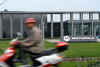 The Motorolla research and software development centre at the Chengdu High-Tech Business Zone on the out-skirts of Chengdu City, Sichuan province. The zone hosts 7,000 businesses - including 310 foreign multinationals like Motorola and Alcatel and has been designed as part of the Great Western Development Strategy (GWDS), an effort to improve the living standards of the 367 million Chinese. Companies are offered large tax incentives and business breaks to set up in this interior region of China..