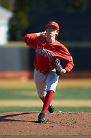 Radford Highlanders starting pitcher Danny Hrbek (7) in action against the Quinnipiac Bobcats at David F. Couch Ballpark on March 4, 2017 in Winston-Salem, North Carolina. The Highlanders defeated the Bobcats 4-0. (Brian Westerholt/Four Seam Images)