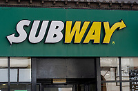 Pictured: A general view of Subway Swansea City Centre during the Covid-19 Coronavirus pandemic in Wales, UK, Swansea, Wales, UK. Monday 23 March 2020