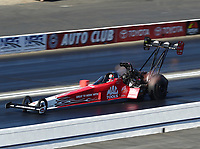 Nov 16, 2019; Pomona, CA, USA; NHRA top fuel driver Doug Kalitta during qualifying for the Auto Club Finals at Auto Club Raceway at Pomona. Mandatory Credit: Mark J. Rebilas-USA TODAY Sports