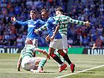 12.05.2019 Rangers v Celtic: Alfredo Morelos and Scott Brown