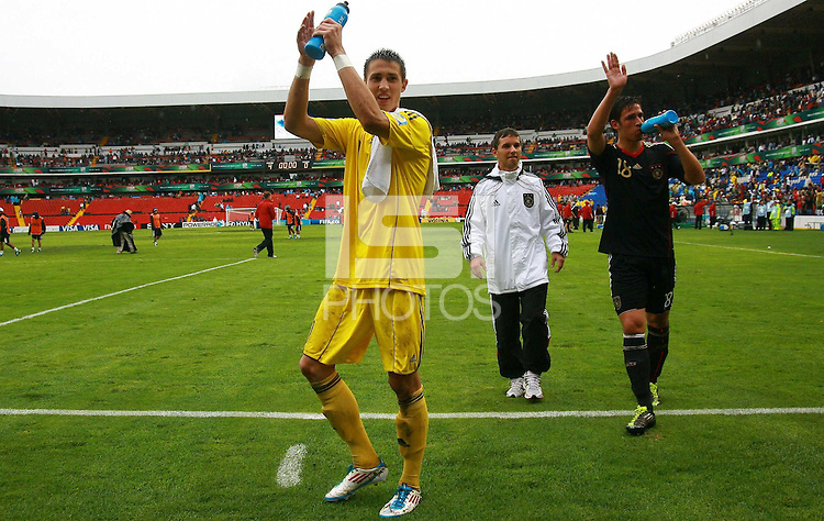 .Action photo of Odisseas Vlachodimos (L) of Germany, during game of the FIFA Under 17 World Cup game, held at Queretaro.