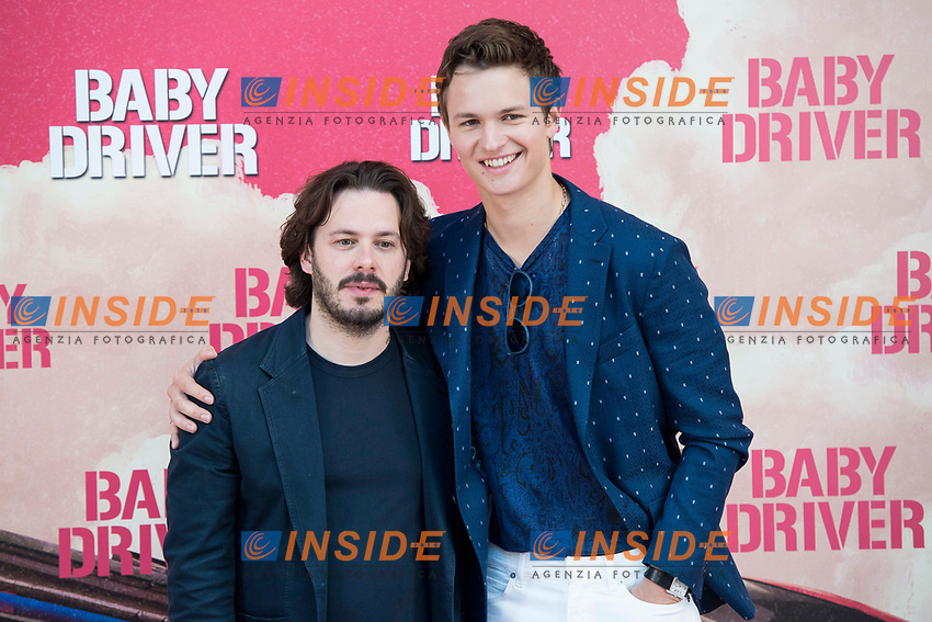 Director of the film, Edgar Wright and american actor Ansel Elgort attends to the presentation of the film 'Baby Driver' at Villa Magna Hotel in Madrid, June 23, 2017. Spain.<br /> (ALTERPHOTOS/BorjaB.Hojas/Insidefoto)<br /> Foto ALTERPHOTOS/BorjaB.Hojas/Insidefoto