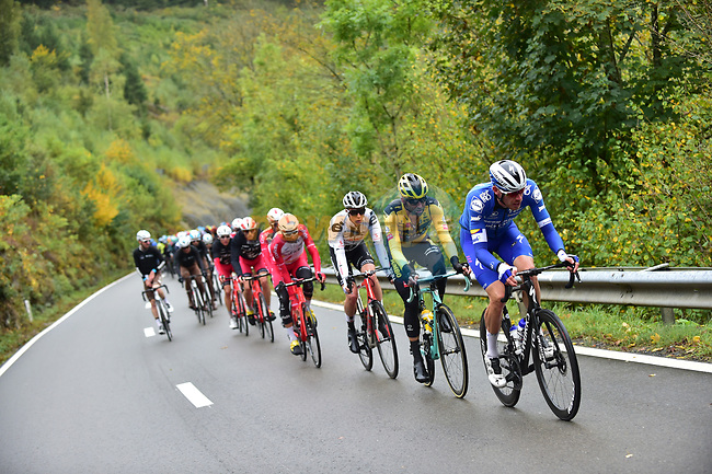 Tim Declercq (BEL) Deceuninck-Quick Step on the front of the peloton during Liege-Bastogne-Liege 2020, running 257km from Liege to Liege, Belgium. 4th October 2020.<br /> Picture: ASO/Gautier Demouveaux | Cyclefile<br /> All photos usage must carry mandatory copyright credit (© Cyclefile | ASO/Gautier Demouveaux)