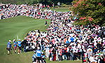 TAOYUAN, TAIWAN - OCTOBER 22: Spectators attend the day three of the LPGA Imperial Springs Taiwan Championship at Sunrise Golf Course on October 22, 2011 in Taoyuan, Taiwan. Photo by Victor Fraile / The Power of Sport Images