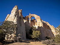 Grosvenor Arch is in Kodachrome Basin, part of the rugged and colorful country near the Cockscomb area of Escalante Grand Staircase National Monument in southern Utah.<br />