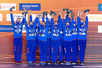 Silver Medal<br /> BELARUS<br /> BUTSELVera/KIRYLIUKMarharyta<br /> KOUTSUNHanna/KUDZINAYana<br /> KULIASHOVAKseniya/NAVASIOLAVAAnastasiya<br /> PUZValeryia/SUVALAVAAnastasiya<br /> TRATSEUSKAYAKseniya/VYSOTSKAYAAliaksandra<br /> Highlights Final<br /> Artistic Swimming<br /> Budapest  - Hungary  15/5/2021<br /> Duna Arena<br /> XXXV LEN European Aquatic Championships<br /> Photo Pasquale Mesiano / Deepbluemedia / Insidefoto