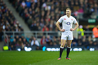 Chris Ashton of England looks pensive after missing out on an overlap during the QBE Autumn International match between England and New Zealand at Twickenham on Saturday 01 December 2012 (Photo by Rob Munro)