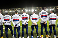 SWANSEA, WALES - NOVEMBER 12: United States men's national team before a game between Wales and USMNT at Liberty Stadium on November 12, 2020 in Swansea, Wales.