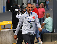 Trainer Adi Hütter (Eintracht Frankfurt) kommt zum Training - 28.08.2018: Eintracht Frankfurt Training, Commerzbank Arena, DISCLAIMER: DFL regulations prohibit any use of photographs as image sequences and/or quasi-video.