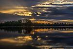 Sunrise on Blaisdell Lake in northern Wisconsin.