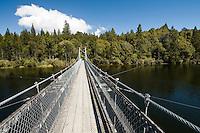 A swingbridge accross the Arnold River in Moana near Greymouth.