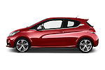 Car Driver side profile view of a 2016 Peugeot 208 GTI 3 Door Hatchback 2WD Side View