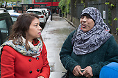 Tulip Siddiq MP.  Labour Party local election campaign, Fortune Green, West Hampstead and Swiss Cottage wards, London Borough of Camden.