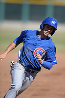 Chicago Cubs second baseman Daniel Lockhart (15) during an Instructional League game against the San Francisco Giants on October 18, 2013 at Giants Baseball Complex in Phoenix, Arizona.  (Mike Janes/Four Seam Images)