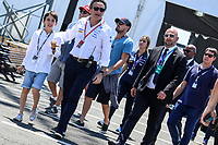 NEW YORK,EUA, 16.07.2017 - FORMULA-E - Leonardo Di Caprio durante etapa R10 New York City da Qualcomm Formula E no Brooklyn na cidade de New York nos Estados Unidos neste domingo, 16. (Foto: William Volcov/Brazil Photo Press)