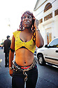 Woman with snake in Treme, 2009
