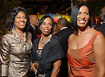 Diedra Fontaine, Phyllis Williams and Jacqueline Kinloch at the Ensemble Theatre Gala at the Hilton Americas Hotel Friday Aug. 15,2008. (Dave Rossman/For the Chronicle)