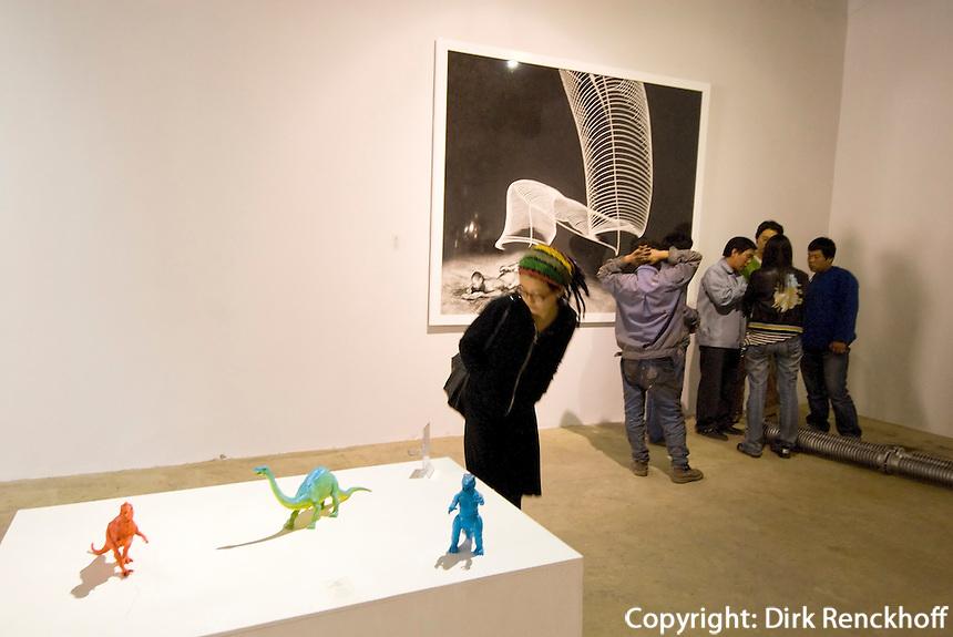 China, Peking (Beijing), Mook Gallery of contemporary Art im Dashanzi Art District in ehemaligen Fabrikhallen, Jiuxianqiao Lu 4