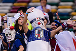 Soccer fans of Japan show their supports prior to the AFC Asian Cup UAE 2019 Group F match between Oman (OMA) and Japan (JPN) at Zayed Sports City Stadium on 13 January 2019 in Abu Dhabi, United Arab Emirates. Photo by Marcio Rodrigo Machado / Power Sport Images